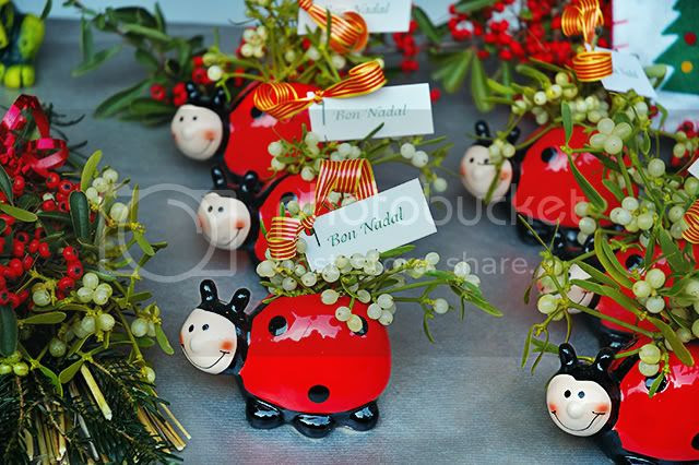 Ladybird with Mistletoe, Christmas Present at Santa Llucia Market [enlarge]
