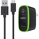 Belkin Universal 2.1A Home Charger with 4' Micro-USB ChargeSync Cable - Black