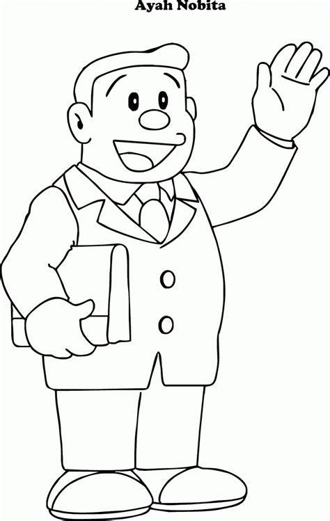 mewarnai ayah nobita nangri