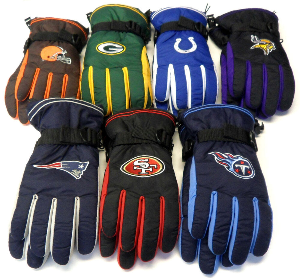 NWT NFL Reebok Team Apparel Mens Winter Gloves Choose Size NEW!  eBay