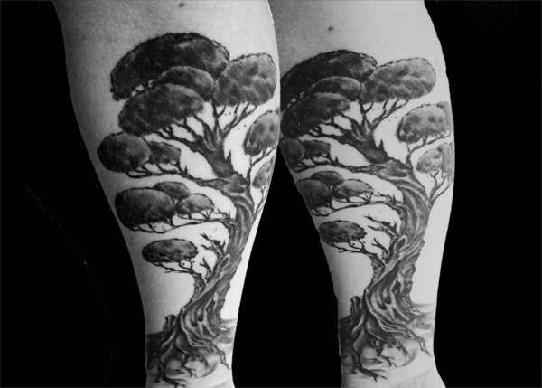 Japanese Tree Of Life Sleeve Tattoo