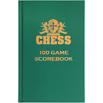 WE Games Hardcover Chess Scorebook & Notation Pad - Soft Touch