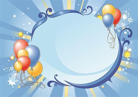 Joyous Celebration Balloon Frame Background Material