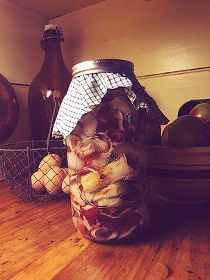 Homestead Blog Hop feature -making-apple-cider-vinegar