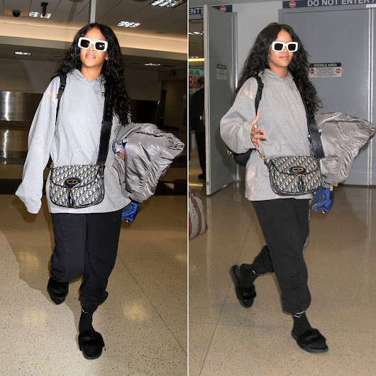 Rihanna Wears Acne Studios on Flight to Los Angeles - Haus of Rihanna