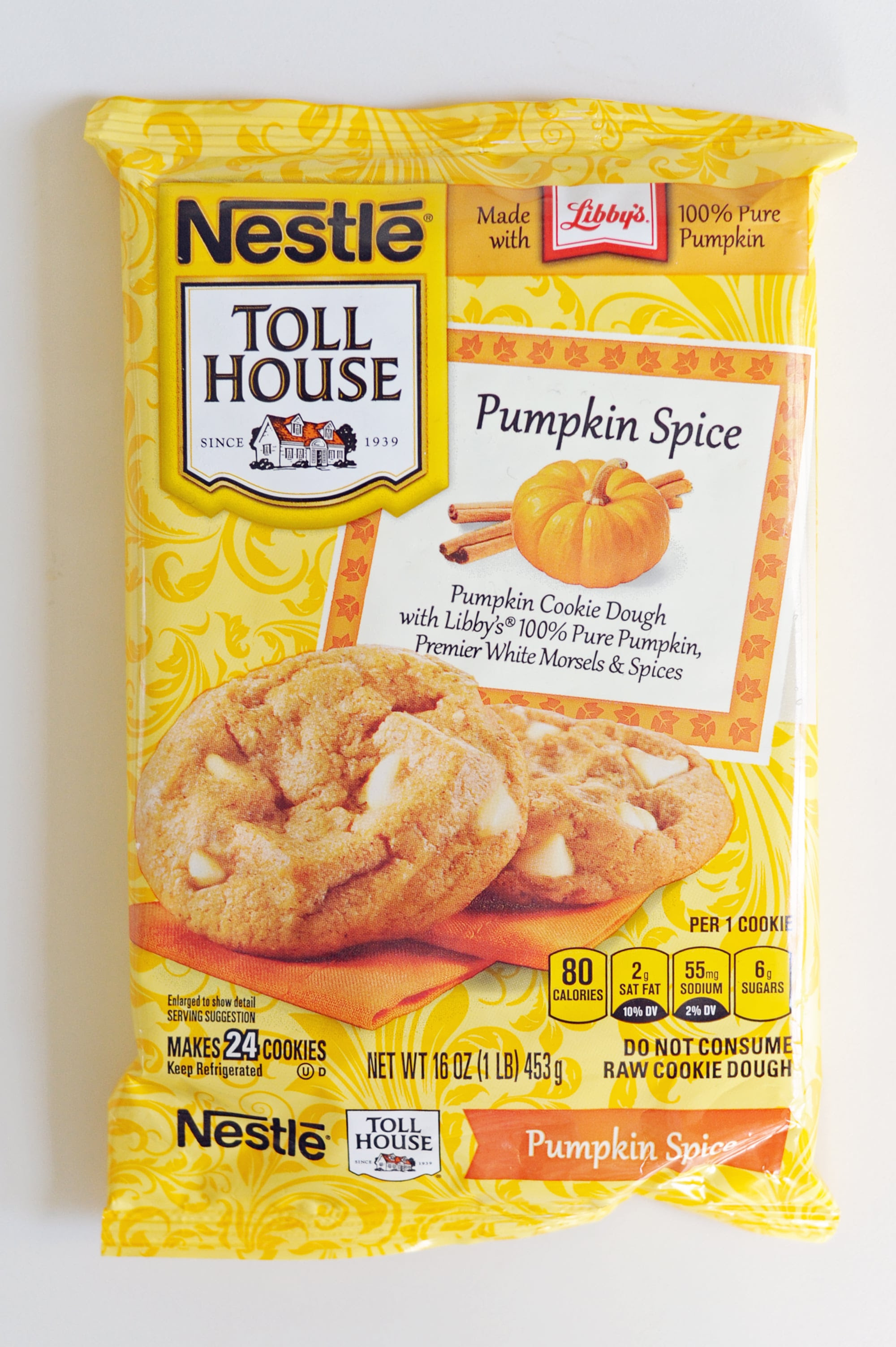Nestlé Toll House Pumpkin Spice Refrigerated Cookie Dough ...