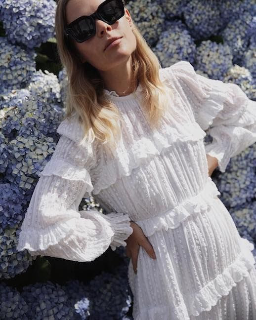 Le Fashion Blog 12 Little White Dresses To Shop For Vacation Long Sleeved Eyelet Lace Dress Via @Wethepeoplestyle