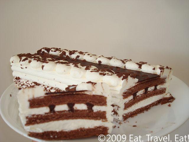 Trader Joes Chocolate Cloud Cake Cut