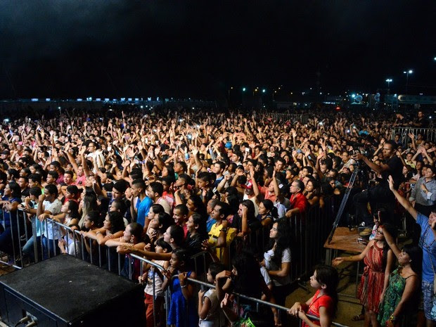 Última noite do Palmas Capital da Fé reuniu cantores famosos da música golpel (Foto: Aline Batista/Prefeitura de Palmas)