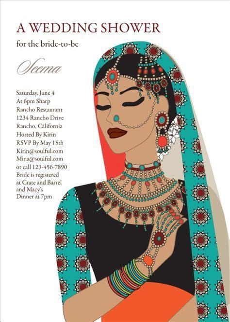 Maharani Diva Indian Bridal Shower Invitations by #