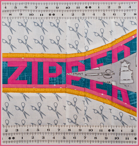 Block 1 - zipper {Sew Out Loud QAL)