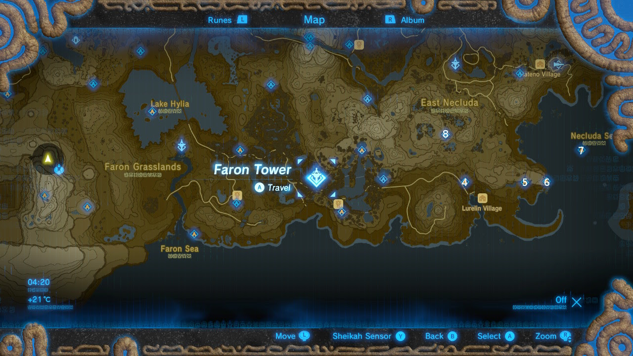 Breath Of The Wild Shrines Map Maping Resources