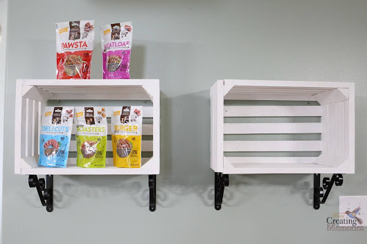 DIY Crate Shelves for Organizing Pet Supplies