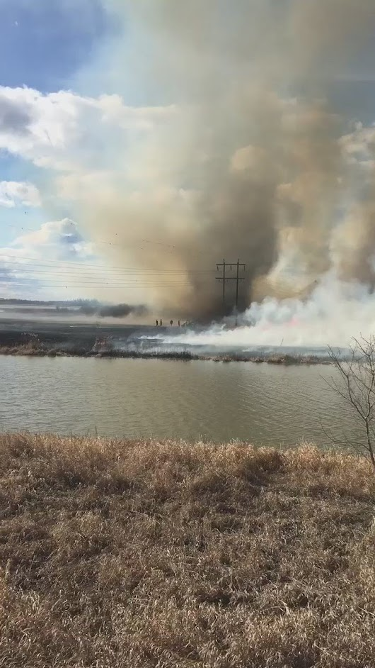 "StAlbertFirefighters on Twitter: ""Truly incredible video of fire tornado that happened during brush fire causing our firefighter to escape into river """
