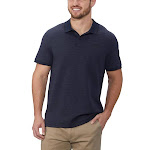 Calvin Klein Interlock Performance Polo, Blue, X-Large