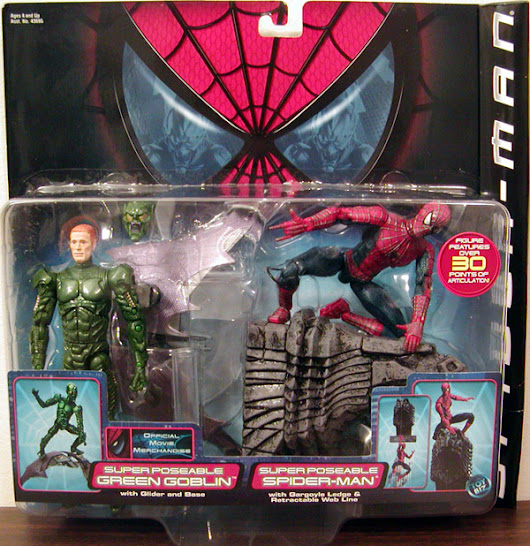 Super Poseable Green Goblin vs Spider-Man Action Figures Toy Biz