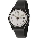Swatch Men's Irony GB743 Black Rubber Swiss Quartz Fashion Watch