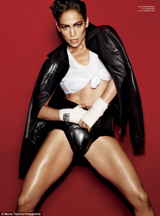 Estilo masculino: Jennifer disse à revista que ela preferia as mais masculinas cuecas pretas de couro