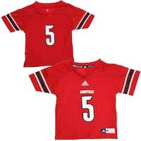 adidas Louisville Cardinals Toddler #5 Replica Football Jersey - Red