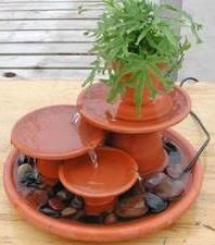Homemade outdoor fountain | Gardens, plants and such | Pinterest