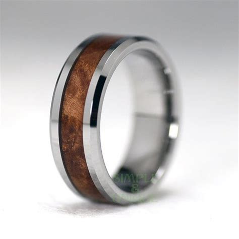 Mens Wedding Band Wood, Mens Wedding Band, 8mm Mens Wood