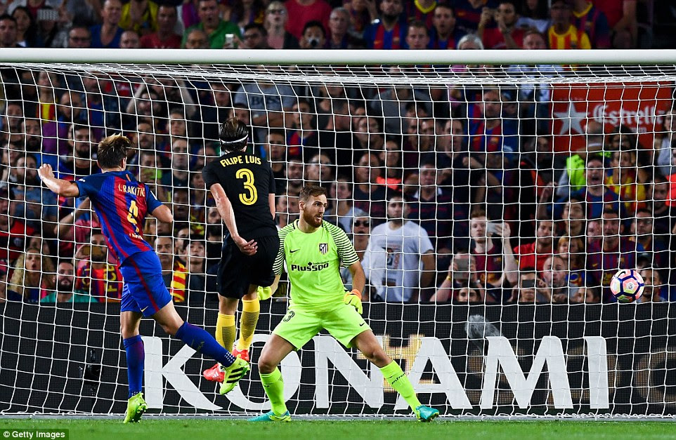 Rakitic broke the deadlock, pointing out his importance to Barcelona with another goal to open the scoring