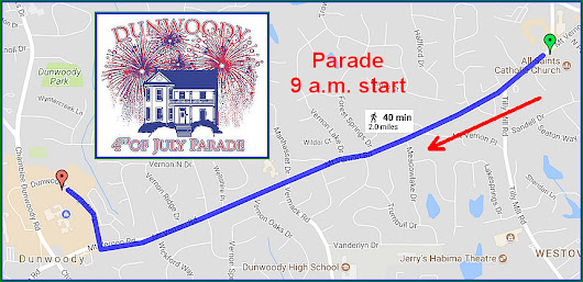 Dunwoody Homeowners Association hosts Georgia's Largest 4th of July Parade - kicking off at 9 a.m.