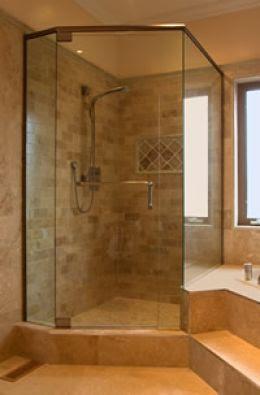 small bathroom corner shower ideas