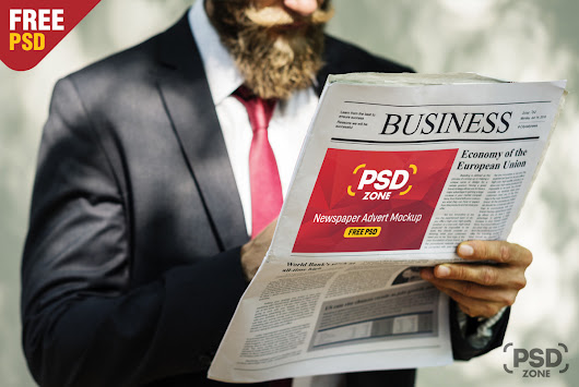 Newspaper Advertisement Mockup Free PSD - PSD Zone