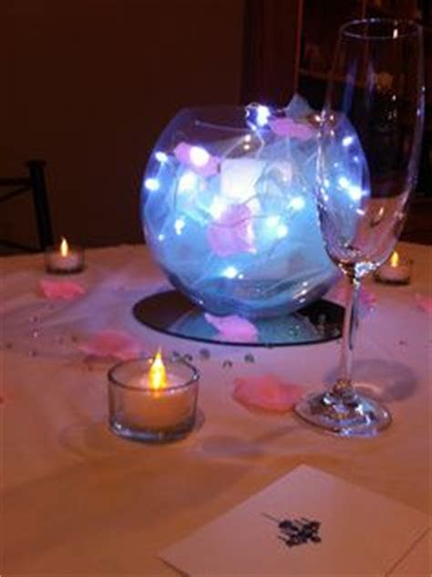 silver star fishbowl table centerpiece