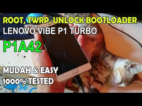 Cara Root TWRP Unlock Bootloader Flash Lenovo Vibe p1 turbo P1a42
