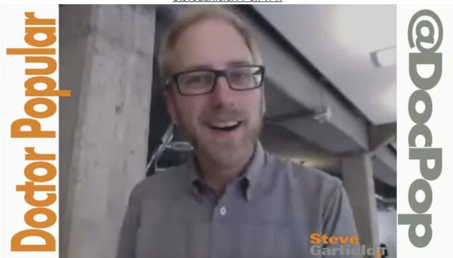 Doctor Popular @DocPop on SteveGarfield.tv
