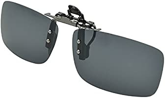 Enem Polarized Black Clip-On Flip-Up Unisex Sunglasses(En0078Demx03|13.2 X 3.5 X 0.1 Cm|Black)