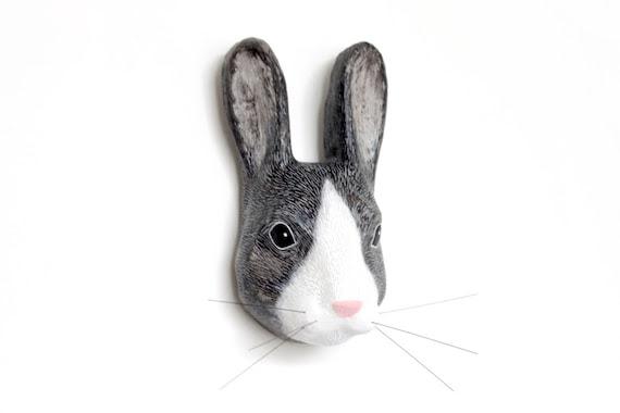 Macheanimal, Honey bunny, tête d'animal montage mural