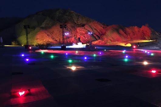 The First Aerial Illuminated Drone Show in the United States Takes Place Over the Mojave Desert