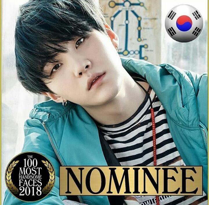 Suga Officially Nominated For 100 Most Handsome Faces Of 2018 Bts Amino