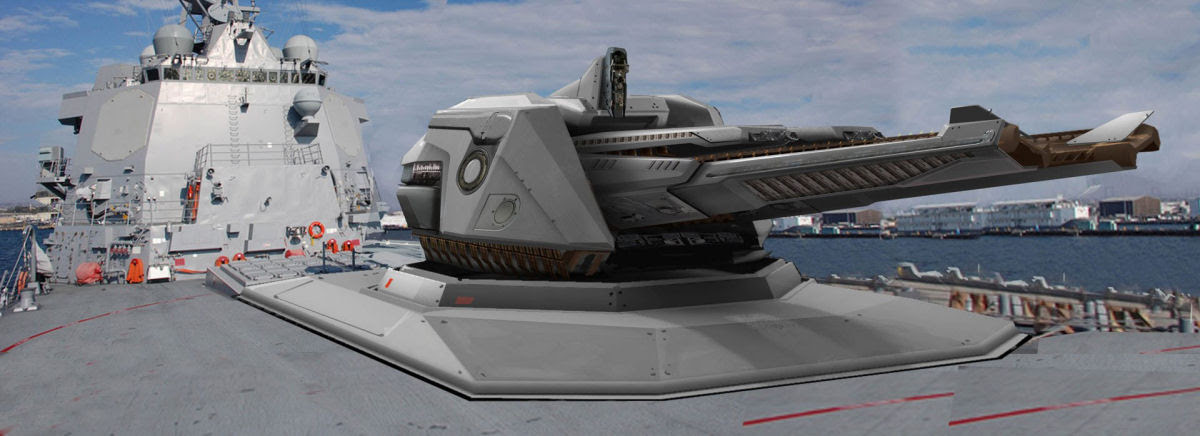Novo canhão eletromagnético da marinha americana dispara até 10 projéteis por minuto a 8.000 km/h