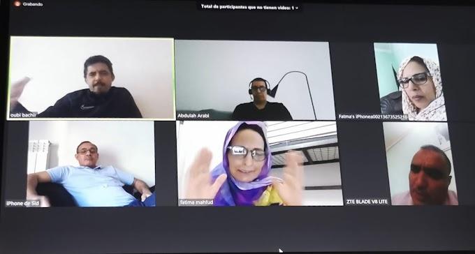 Reunión por vídeoconferencia para evaluar la primera fase del programa alternativo de Vacaciones en Paz
