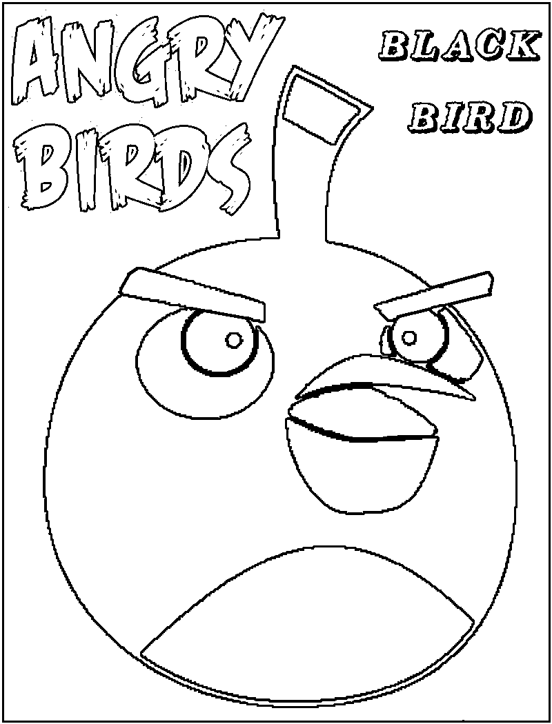Angry Bird Color Pages
