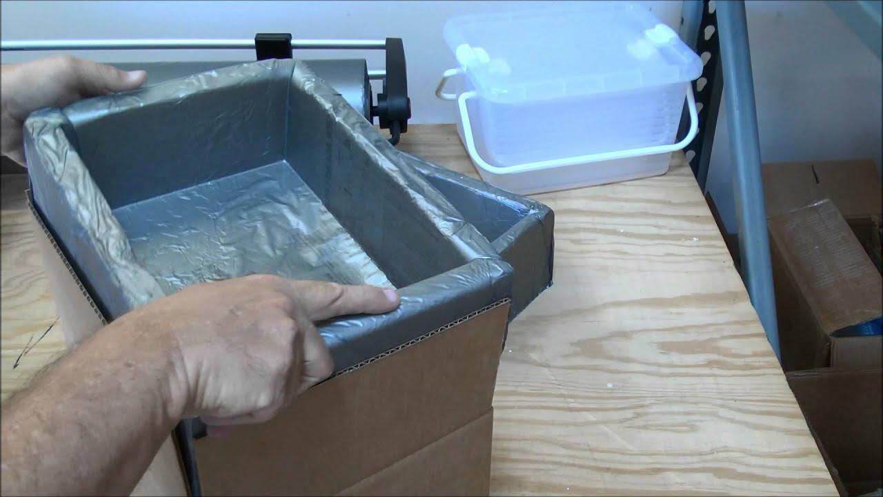 Making a custom foam cooler using Instapak foam Ship Frozen Using Dry