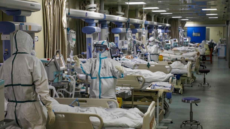 Tại một khu chăm sóc tăng cường bệnh nhân nhiễm virus corona tại Vũ Hán ngày 06/02/2020.