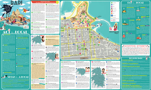 USEIT BARI A Tourist Map For Young People Click On The Map And - Bari map