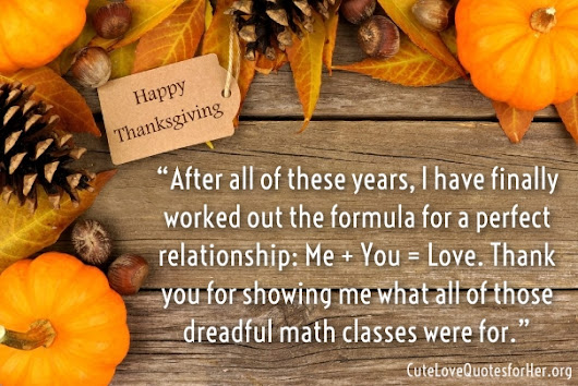 Thanksgiving Love Quotes for Her – Thank You Sayings