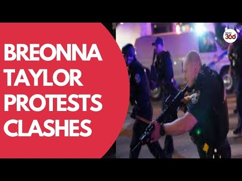 Breonna Taylor protests- Clashes with Portland police after grand jury i...