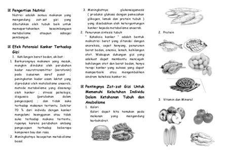 leaflet diet nutrisi pd penderita kanker akper pemkab muna