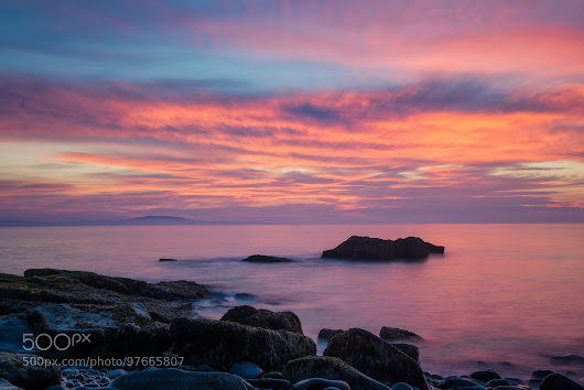 Early Morning Sunrise, Late September, Otter Rocks at Acadia NP, Maine