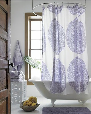 purple in the bathroom #purple #bathroom #showercurtain