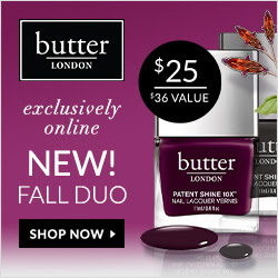 The New Fall Nail Patent Shine Duo, Only $25 ($36 Value) and Receive Free Shipping with any Purchase at butter LONDON! Shop Now and Save!