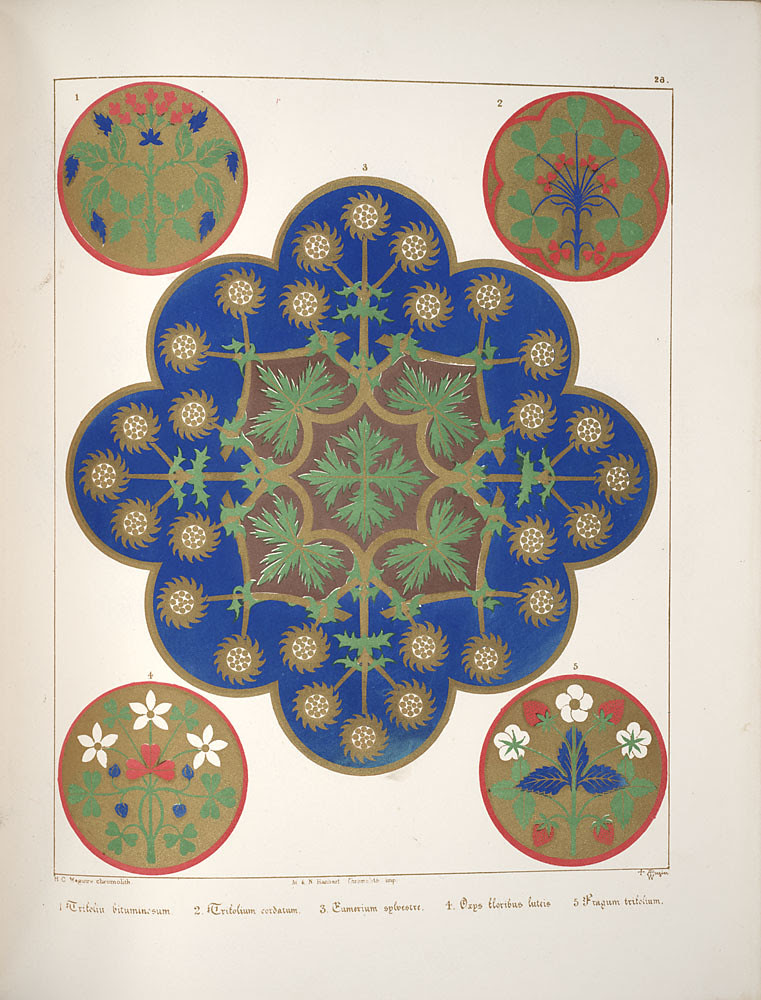 Floriated ornament, a series of thirty-one designs, 1849 - Augustus Welby Northmore Pugin