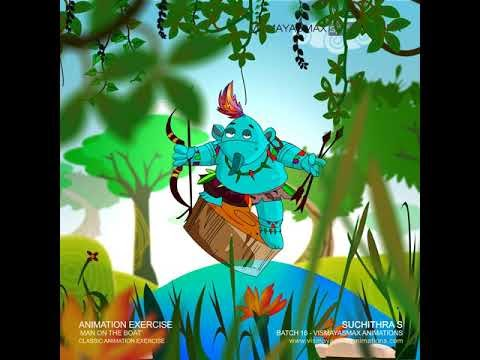Classical Animation Exercise  Suchithra S   Vismayasmax Animations
